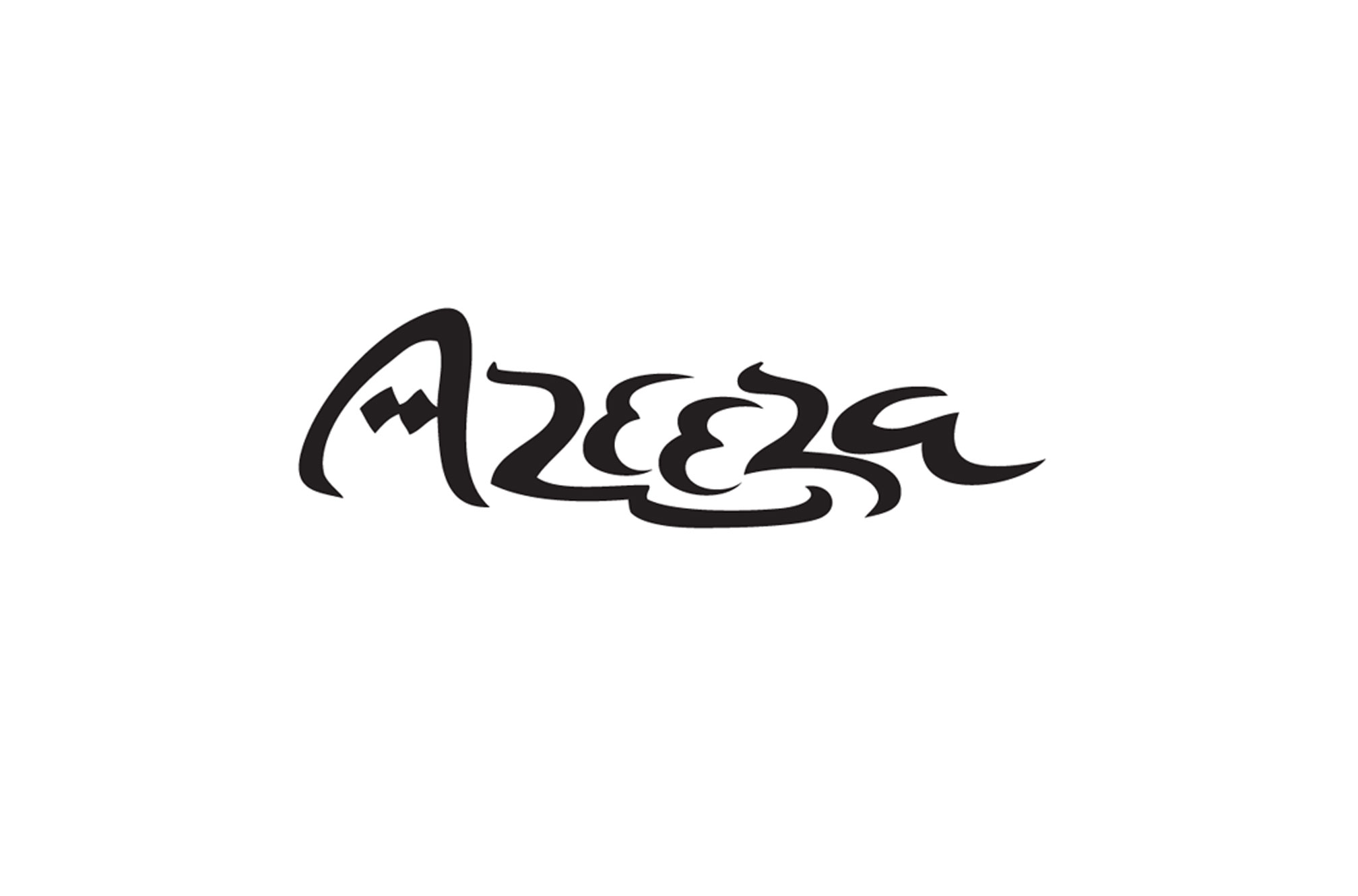 Lettering for Azeeza, a persian carpet store