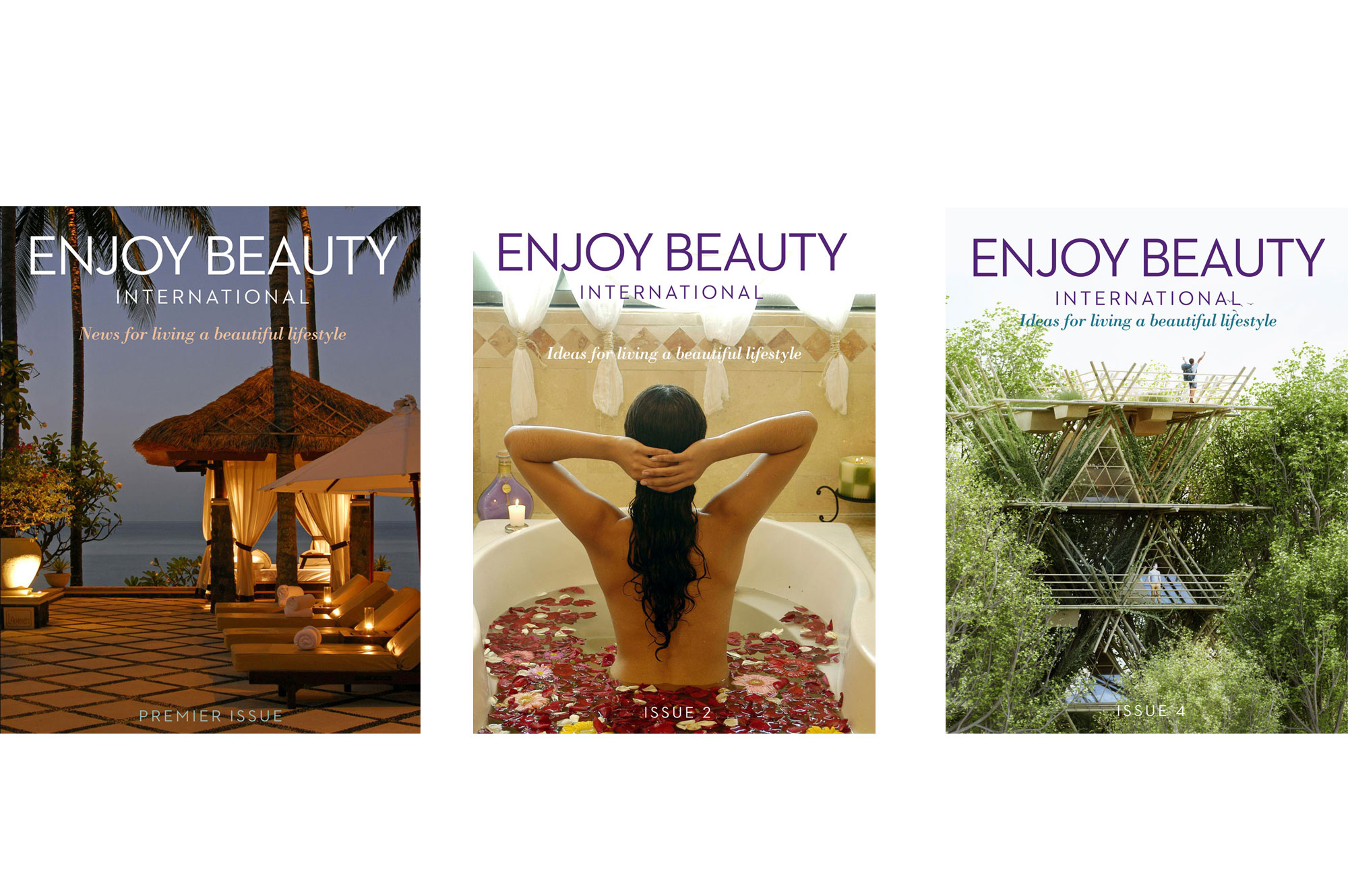Cover designs for Enjoy Beauty international